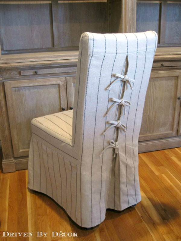 Chairs With Pretty Slipcovers That Tie In The Back