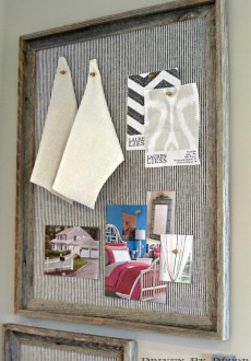 DIY Reclaimed Wood Framed Bulletin Boards