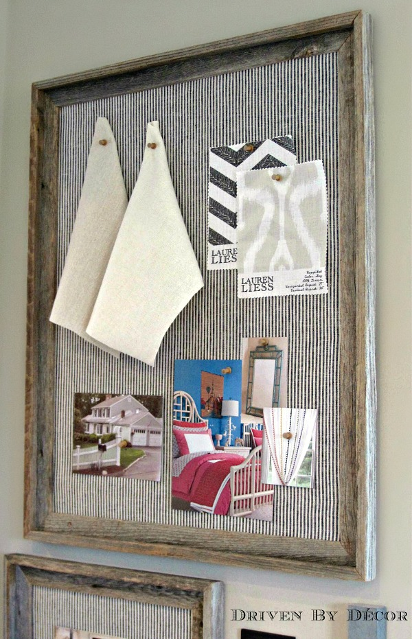 Diy reclaimed wood framed bulletin boards driven by decor for Diy bulletin board for bedroom