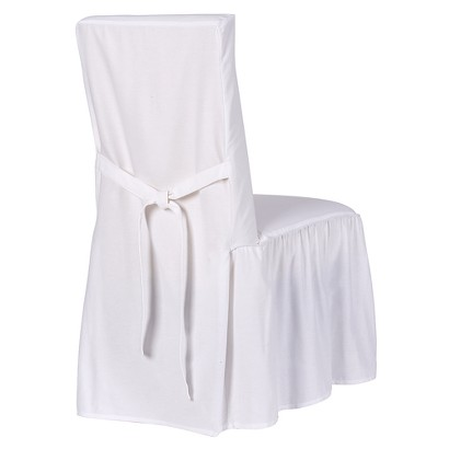 Dining chair cover that ties on the back