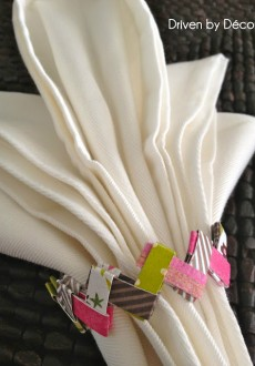 Easter Table Decorations: Paper Chain Napkin Rings