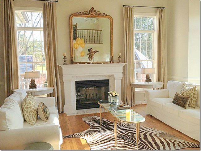 Living room with two IKEA EKTORP sofas
