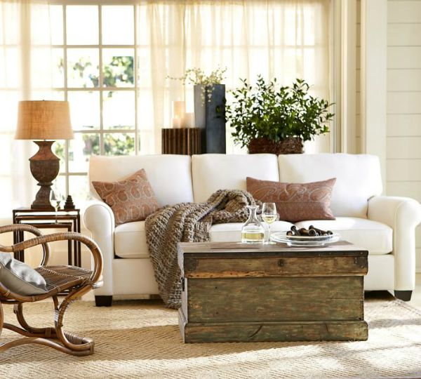 Pottery Barn's Buchanan Roll Arm Upholstered Sofa