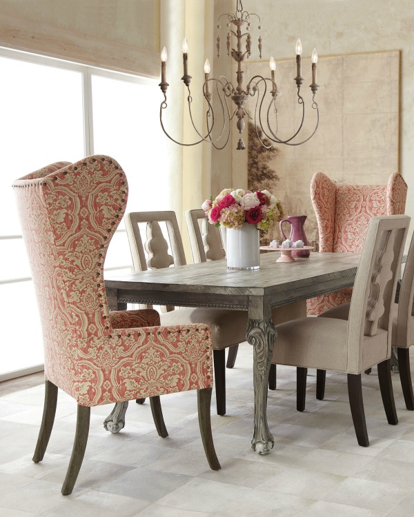 Use a different style of side chairs than end chairs for your dining room