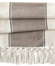 DIY Macrame Fringe Table Runner