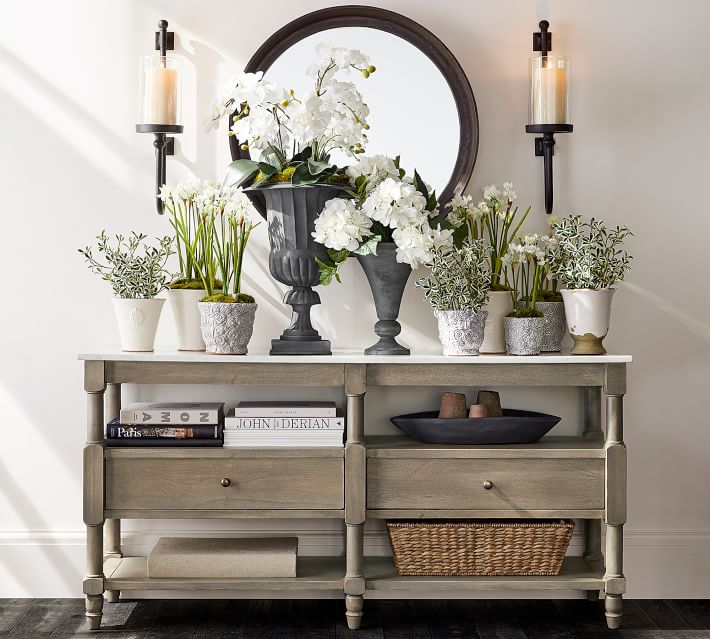 Using A Console Table Behind Your Sofa Driven By Decor