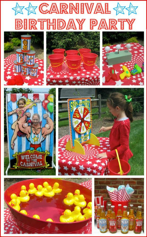 Ideas for how to throw a carnival or circus birthday party