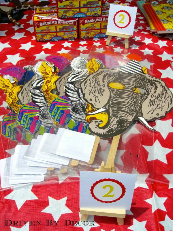Prizes for carnival or circus birthday party