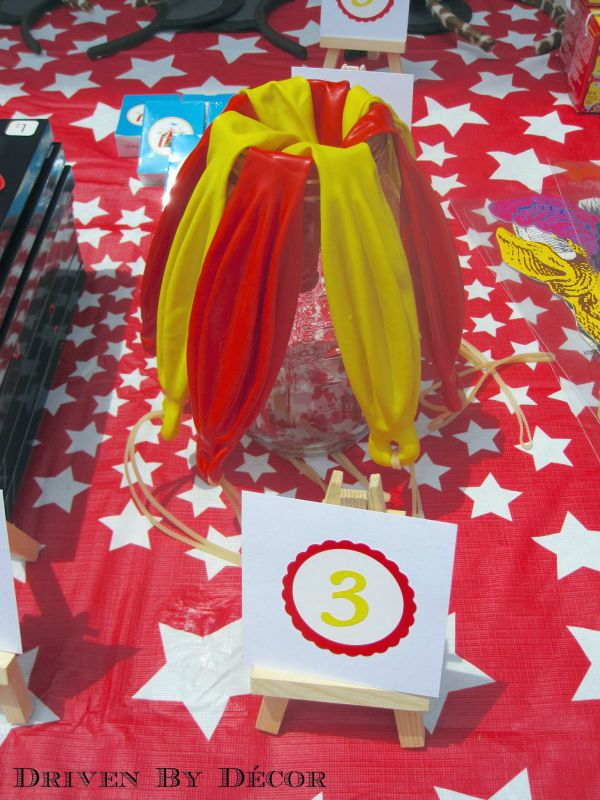 Punch balloons as prizes for carnival or circus birthday party