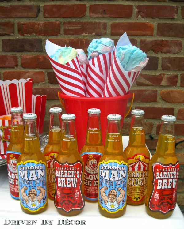 Treats for carnival or circus birthday party