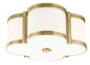 Hudson Valley Chandler Flush Mount FIxture in Aged Brass