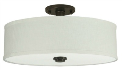 Lowes Good Earth Valencia Flush Mount Ceiling Fixture in Dark Bronze