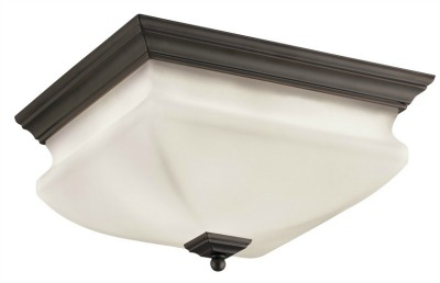 Lowes Portfolio Flush Mount Ceiling Fixture in bronze