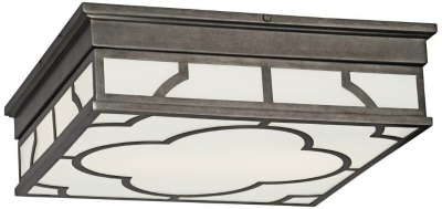 Shades of Light Quatrefoil Modern Ceiling Light - patina nickel finish