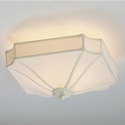 Shades of Light Silky Shade Flushmount Ceiling Light