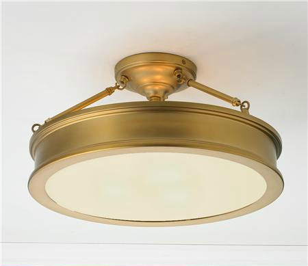 Traditional Urban Semi Flush Ceiling Light from Shades of Light
