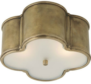Visual Comfort Alexa Hampton 2 Light Flush Mount Brass