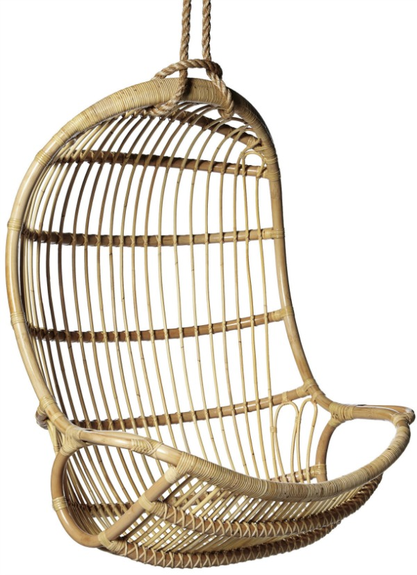 LOVE this hanging rattan chair - lots of great options in this post!