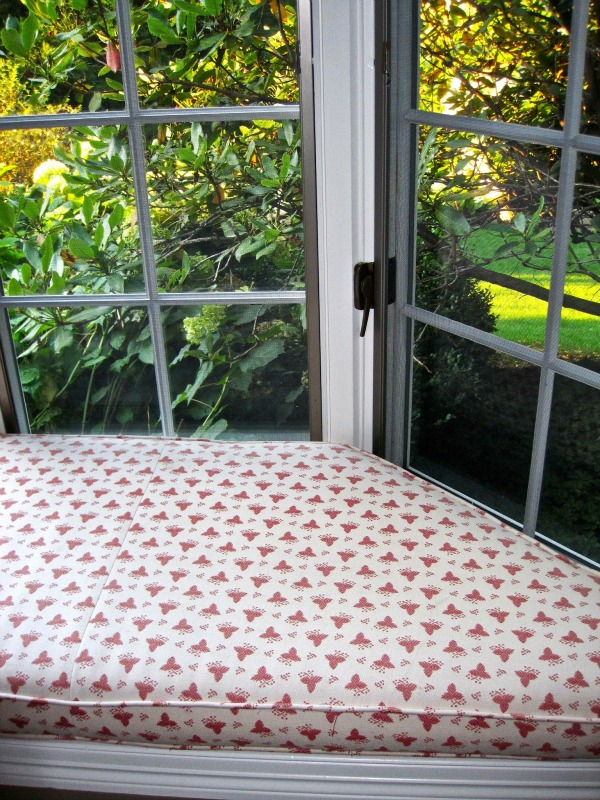 Old window seat cushion fabric