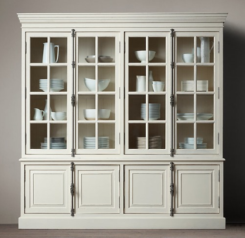 Dressing up my china cabinet with a cremone bolt driven by decor - Restoration hardware cabinets ...