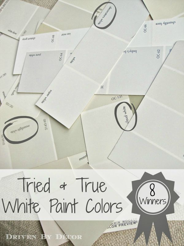 Best White Paint Colors picking a white paint color: 8 proven winners | drivendecor