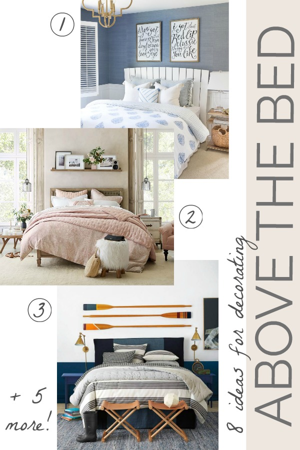 8 smart ideas for decorating that awkward space above the bed!
