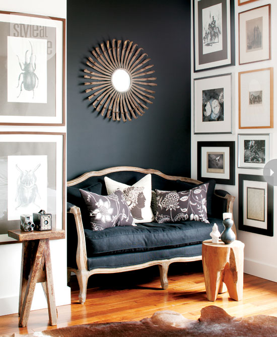 Favorite black and charcoal gray paint colors driven by decor for Charcoal gray walls living room