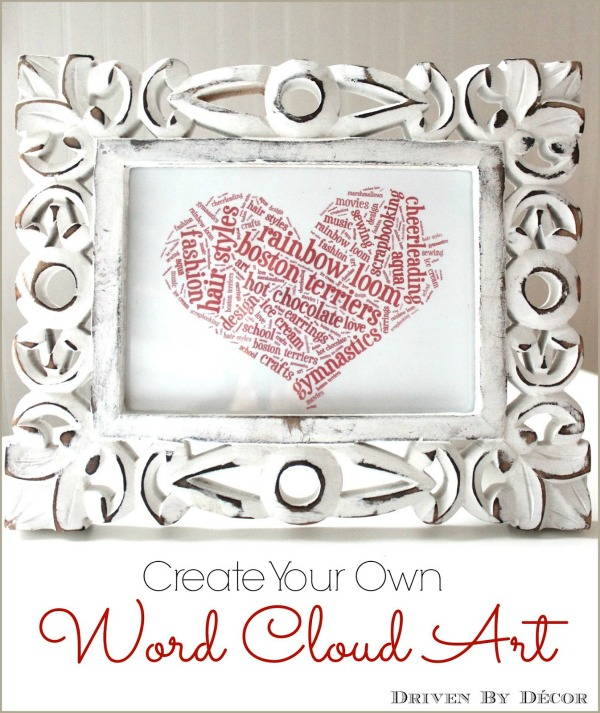 Create your own word cloud art with Tagxedo