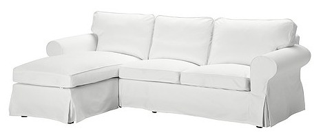 EKTORP loveseat and chaise lounge
