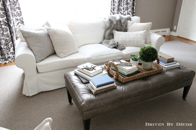 Love This Trick To Get A Supersized IKEA EKTORP Sofa!
