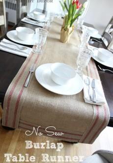 No-Sew Burlap & Jute Table Runner