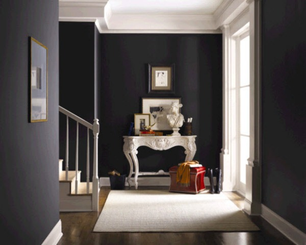 Favorite black and charcoal gray paint colors driven by - Black and white paint schemes ...