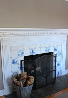 My Blue & White Fireplace Tile – Should it Stay or Go?