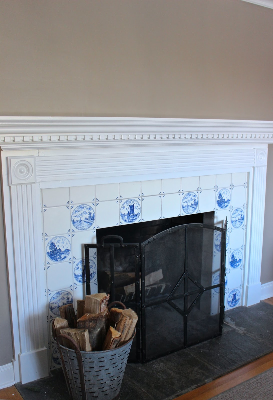 My Blue Amp White Fireplace Tile Should It Stay Or Go