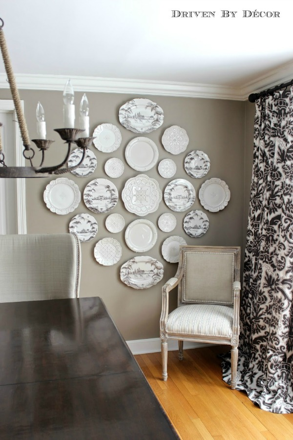 Hanging Plates To Create A Decorative Plate Wall!