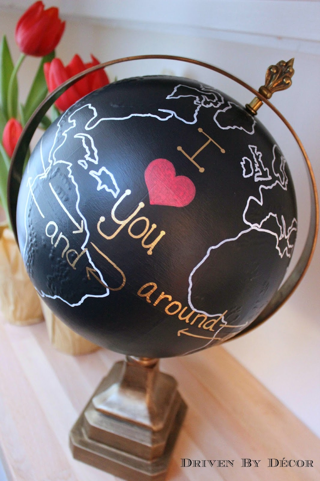 The World Of Playing Cards: Upcycled Globe: I Love You Around The World And Back Again