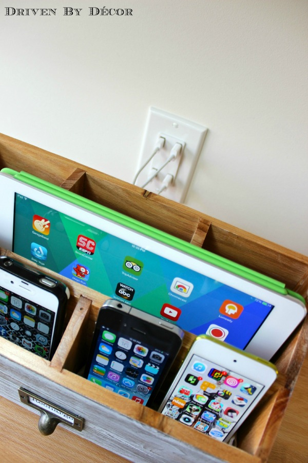 Diy Family Charging Station Driven By Decor