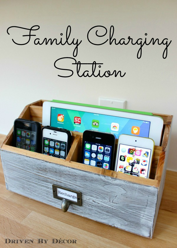 Driven by Decor - Hack an Office Organizer to Create a Super Convenient Family Charging Station