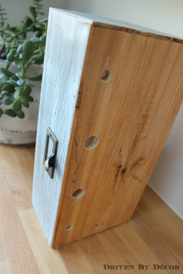 Driven by Decor - Holes drilled in bottom of family charging iPhone station