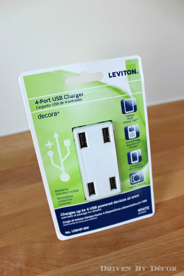 Driven by Decor - Leviton USB 4 port outlet