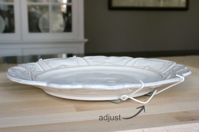 How to adjust a plate hanger for the best fit before hanging plates on a wall!