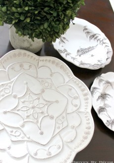 Hanging Plates to Create a Decorative Plate Wall