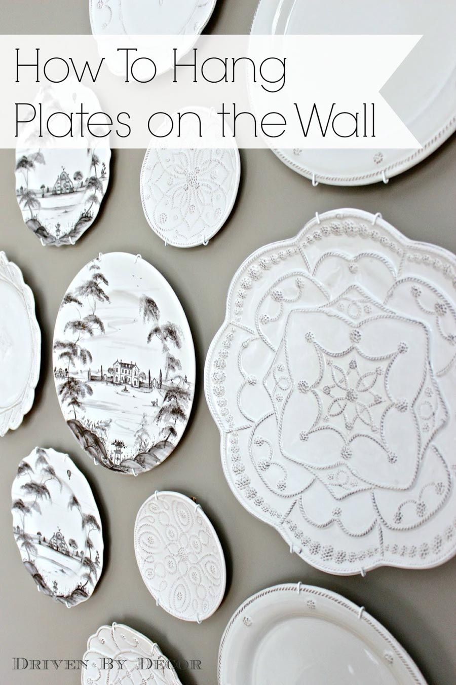 How to hang plates on a wall (so they stay up for good!)