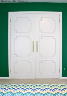 Update Your Flat Doors with this DIY Molding Makeover
