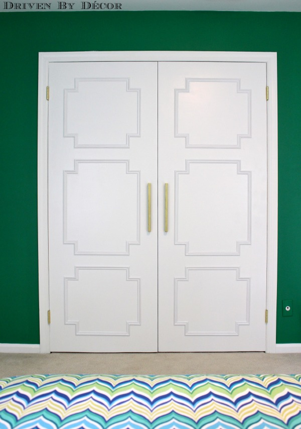 Turn flat doors into paneled stunners with this simple DIY!