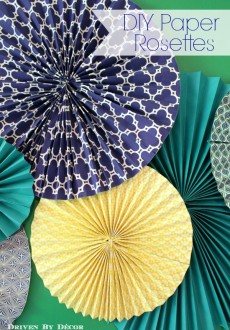 DIY Tutorial: How to Make Paper Rosettes