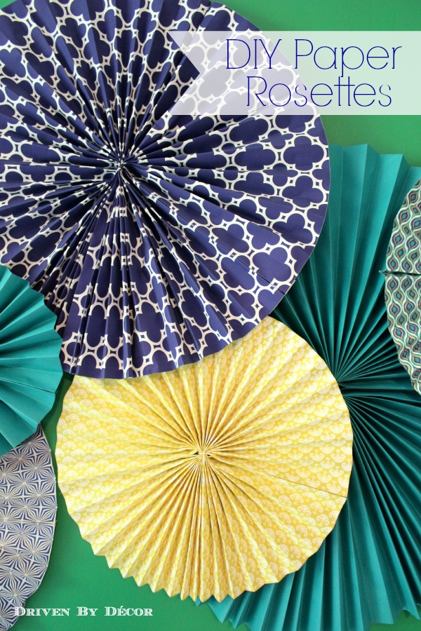 DIY Tutorial: How to Make Paper Rosettes | Driven by Decor