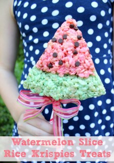 Watermelon Slice Rice Krispies Treats