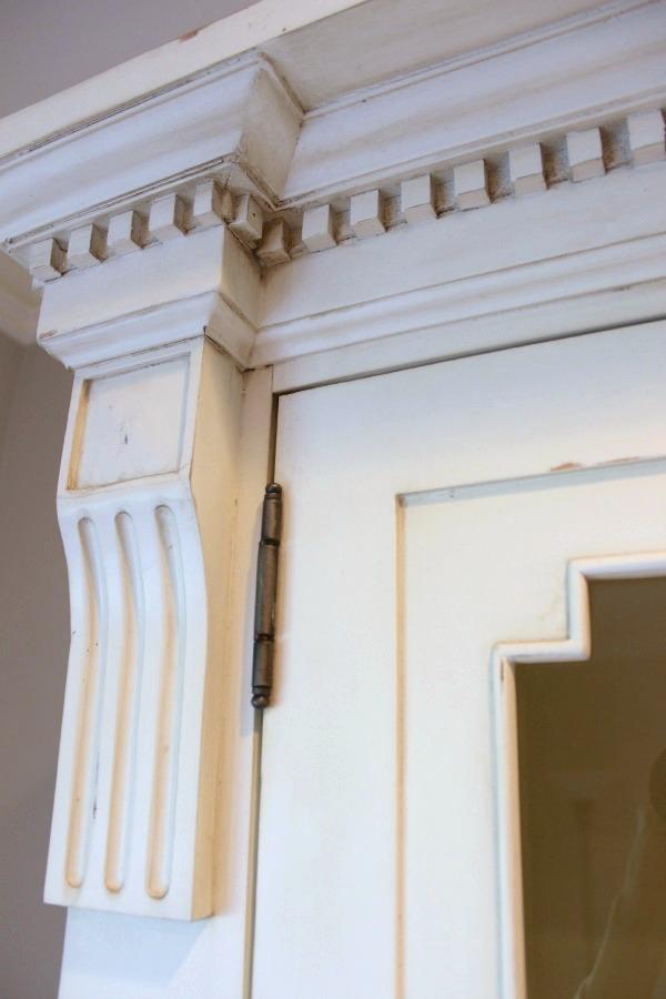 Detail of Restoration Hardware's St. James Cabinet