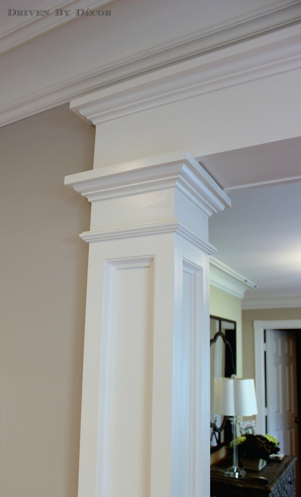 Love the details of this doorway molding